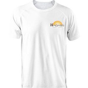 A three-piece shirt with a logo